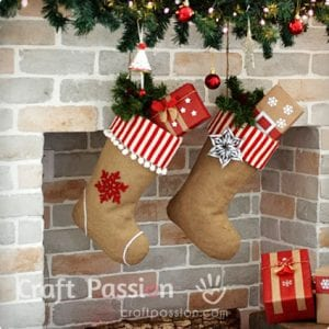 Fully Lined Burlap Stockings