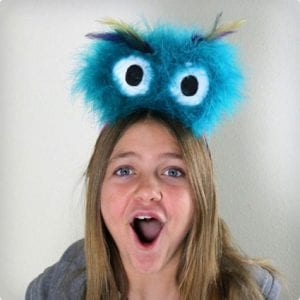 Fuzzy Monster Eyes Headband