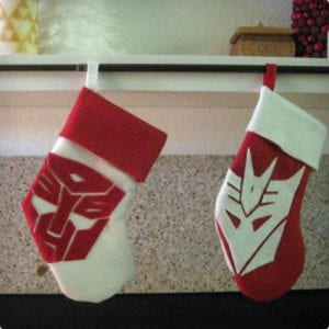 Geeky Fun Transformers Stockings