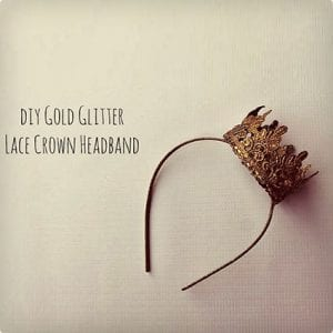 Gold Lace DIY Crown Headband