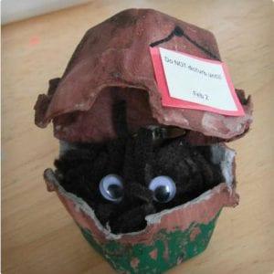 Groundhog Egg Carton Critter