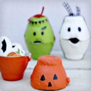 Halloween Candy Boxes Made From Egg Cartons