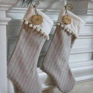 Handmade Stockings With Pom Poms