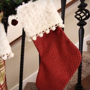 large cuffed diy stockings - Large Christmas Stockings