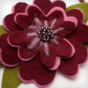 Large Felt Flower Headband