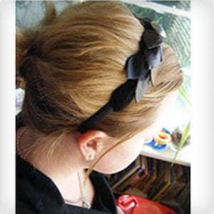 Leather Scrap Leafy Headband