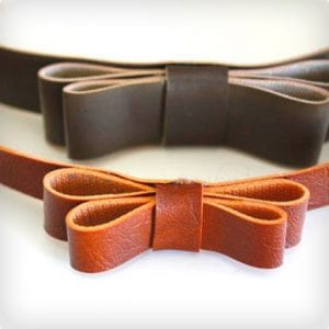 Leather and Simple Bow Headband