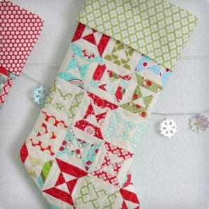 Lined Stocking With A Cuff