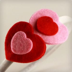 Little Felt Hearts Headband