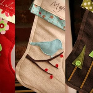 Lovely DIY Felt Stockings