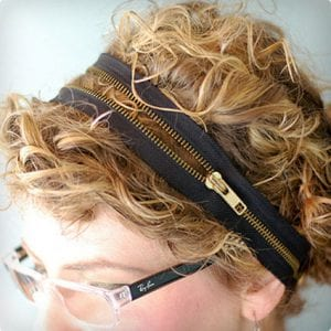 Makeshift Headband Using a Zipper