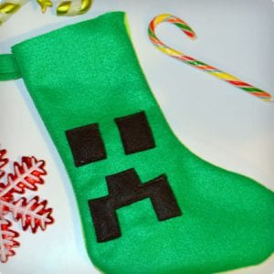 Minecraft Creeper Face Stocking