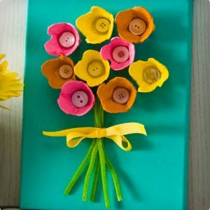 Mod Podge Egg Carton Flower Display