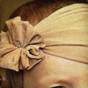 No-Sew Baby Headband Made From Tights