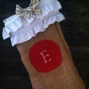 No-Sew Burlap Stockings With Ribbons