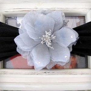 Nylon Baby Headband With Flower