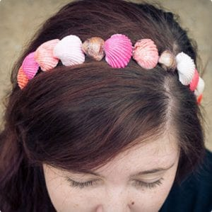 Painted Seashell Headband and Accessories