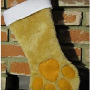 Paw Shaped Stocking For Pets