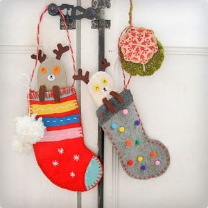 Peek-A-Boo Reindeer Stockings