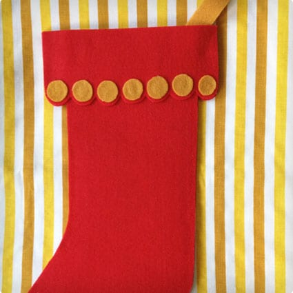 Quick and Easy Vintage Felt Stocking