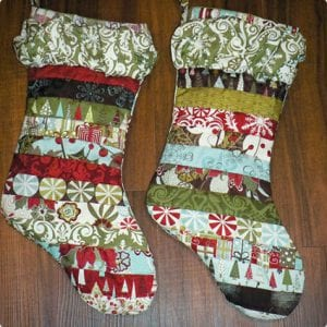 Quilted Ruffle Stockings