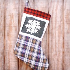 Recycle Flannel Stocking