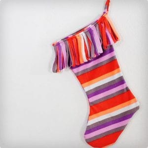 Recycled Fleece Pajama Stocking