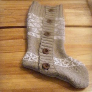 Recycled Sweater Stockings