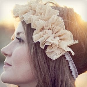 Ruffle and Elastic Headband