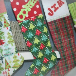 Scrap Cloth Homemade Stockings