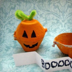 Secret Message Egg Carton Pumpkins