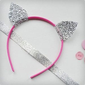 Simple Sparkly Ears/Tufts Headband