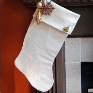 Simply Embellished Drop Cloth Stockings