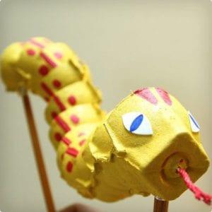Sinuous Egg Carton Snake Toy/Puppet