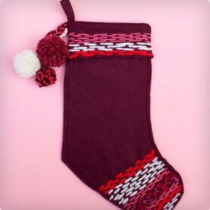 Stitched Felt Stockings