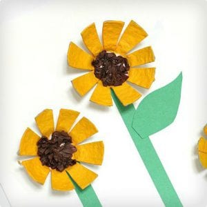 Sunflowers Made From Egg Cartons