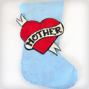 Tattoo Heart Felt Stocking