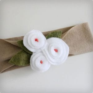 Thrifty Homemade Baby Headband With Accessories