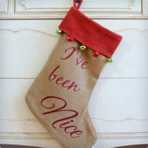 Thrifty Naughty/Nice Stocking Makeover