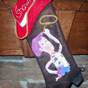 Toy Story Woody Inspired Stocking