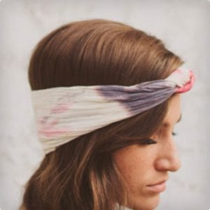 Urban Tie Dye Knotted Headband