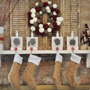 Woven Burlap Stockings