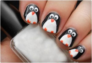 Adorable Penguin Nail Art