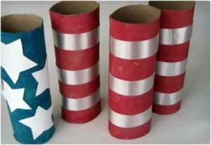 American Flag Toilet Paper Roll Craft