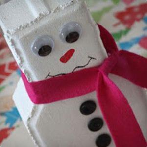 Brick Snowman Craft