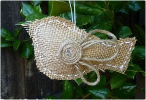 Burlap Bird Ornament Tutorial