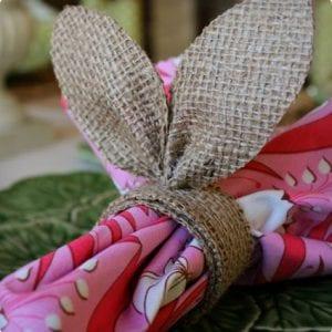 Burlap Bunny Ears Napkin Rings