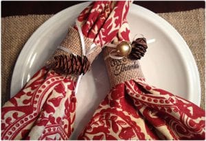 Burlap and Toilet Paper Roll Napkin Rings