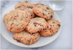 Candied Pecan and Chocolate Chip Cookies