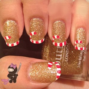 Candy Cane French Tip Tutorial